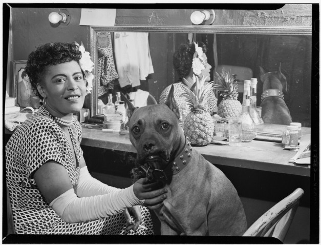 Billie Holiday and Mister by William P, Gottlieb
